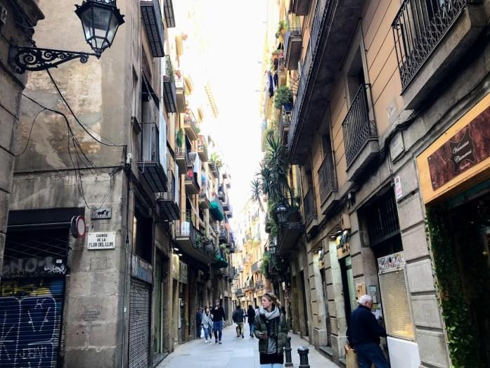 Side street off Las Ramblas