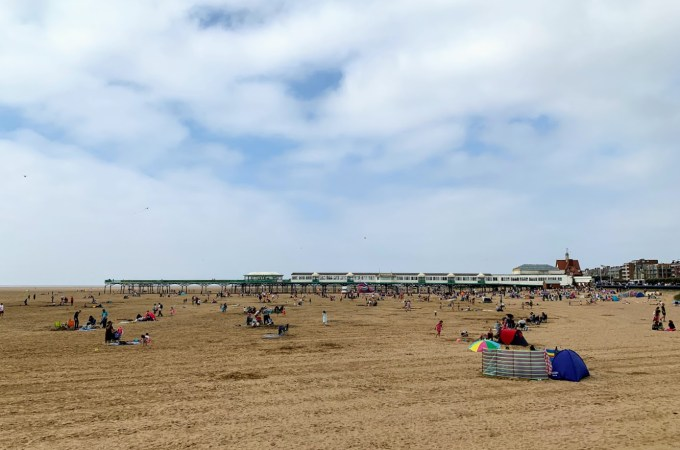 A day at the beach in Lytham St Annes