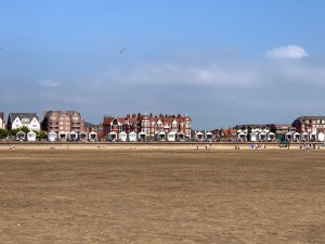 The houses and mansions from the beach at Lytham St Annes