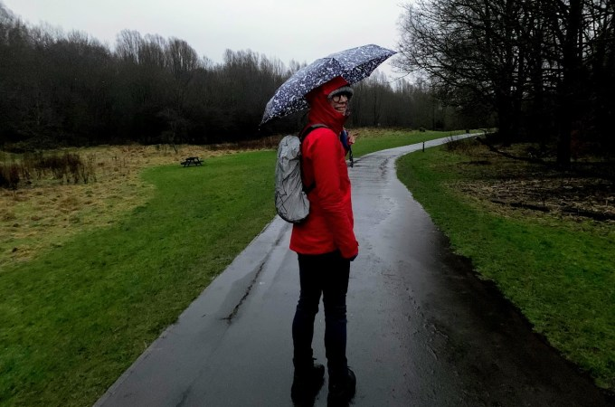 How to go walking in the rain