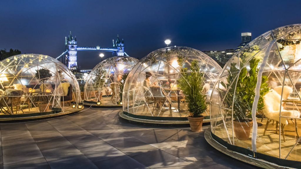 This December you can dine in an amazing igloo by the River Thames