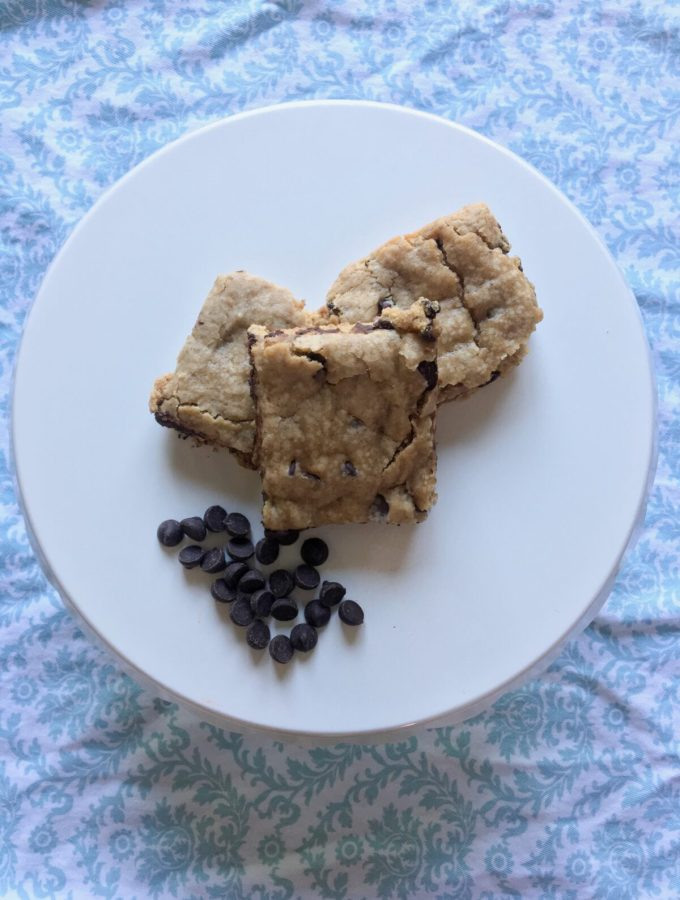 Dairy-Free & Egg-Free Chocolate Chip Blondies