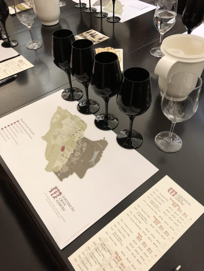 Black Glass Tasting at Matanzas Creek in Sonoma County
