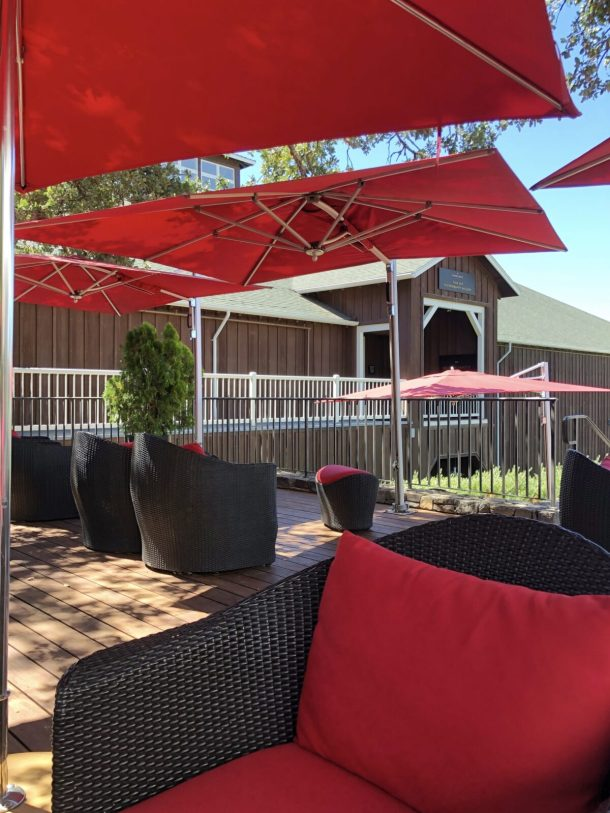 Mumm Napa Sparkling Wine Tasting Oak Terrace Seating