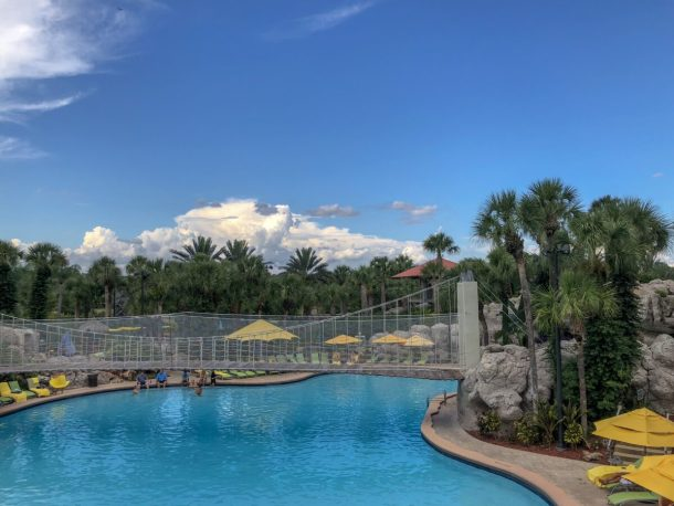 Hyatt Regency Grand Cypress Pool with Rope Bridge