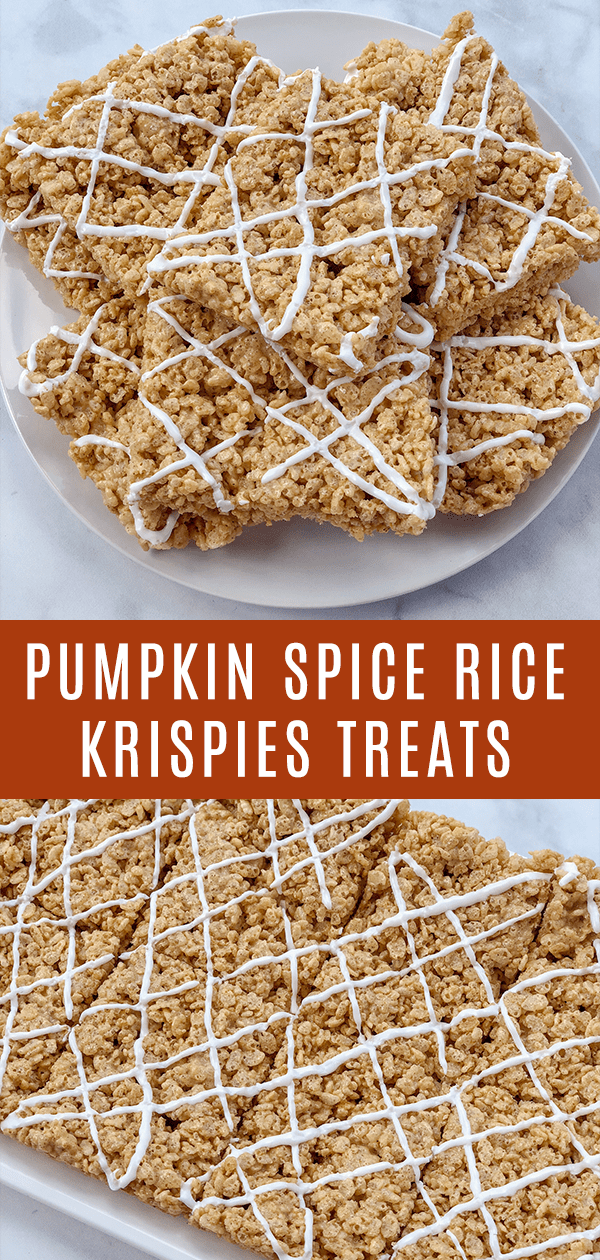 Dairy-Free Pumpkin Spice Rice Krispies Treats are allergy-friendly, soft, chewy, and gooey. Perfect for a fun snack or festive party dessert.