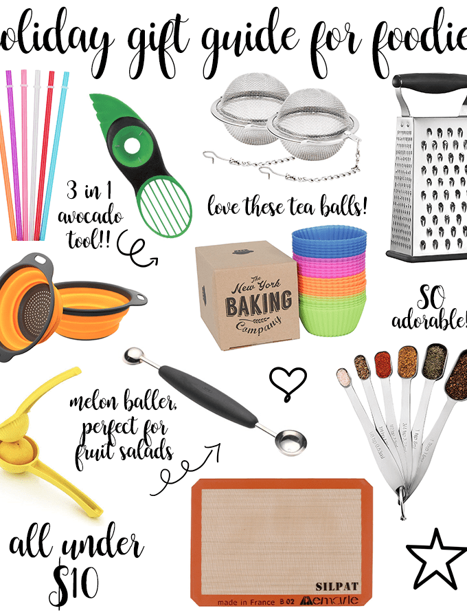 Last Minute Holiday Gift Guide for Foodies - 10 Under $10
