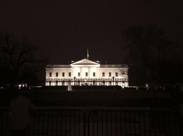 The White House at night Washington DC