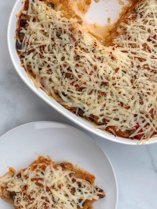 6-Ingredient Spaghetti Squash Pizza Casserole