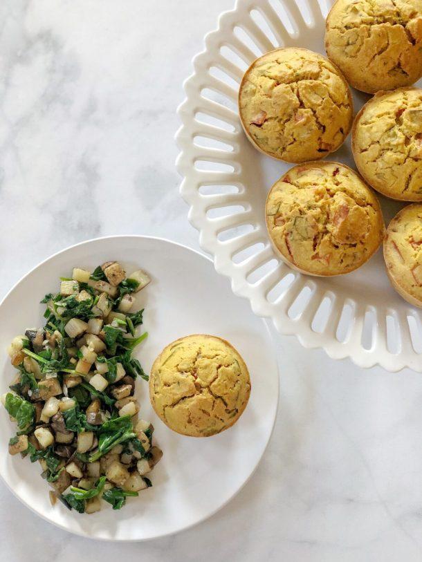 Eggless Breakfast Muffins Vegan