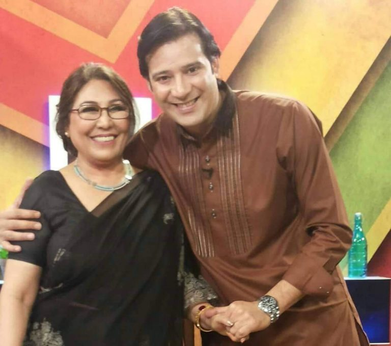 Seema Ghazal With Actor Muamar Rana