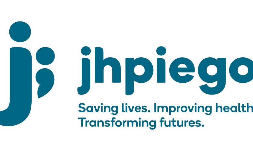 "The jhpiego logo, a j with a semicolon. Tagline reads: ""Saving lives. Improving health. Transforming futures."""