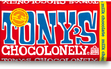 Tony's Chocolonely chocolate wrapper