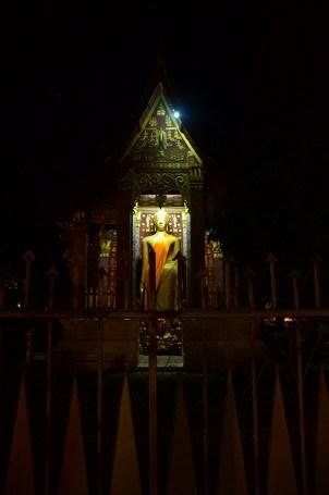 Standing Buddha from the street - Wat Sene