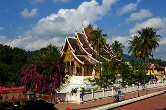 Wat Haw Phra Bang, in the royal palace compound, built to house the statue of the same name.