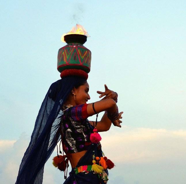Rajasthani dancer - Choki Dhani, Chennai
