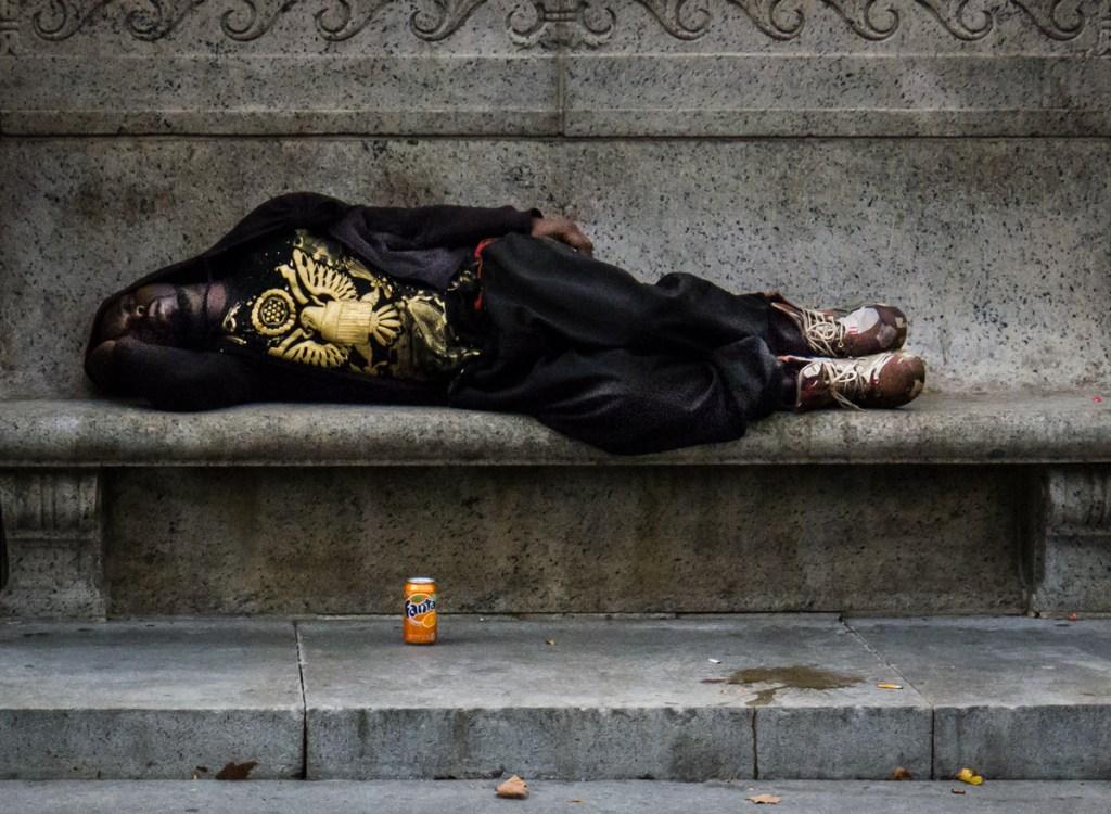 destitute man