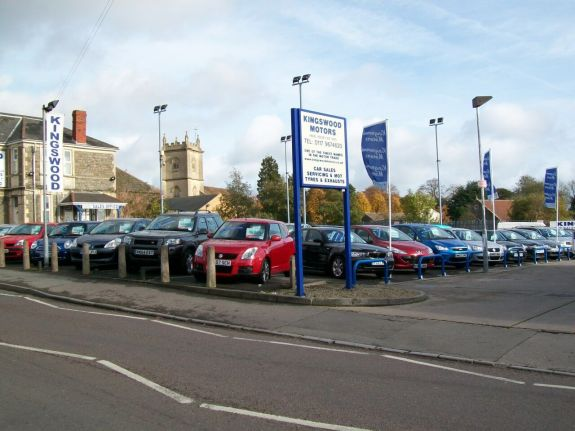 image of my fathers car dealership in Bristol called Kingswood Motors