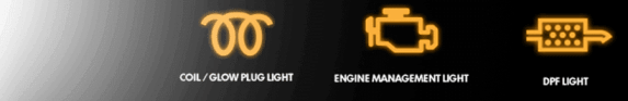 dpf engine warning lights