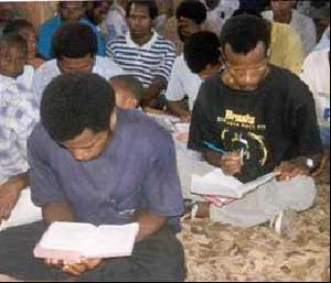 It is a joy to see them using their New Testaments