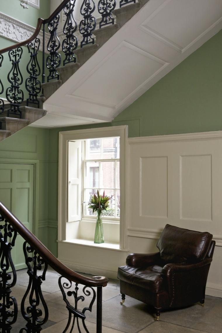 hallway color green mint