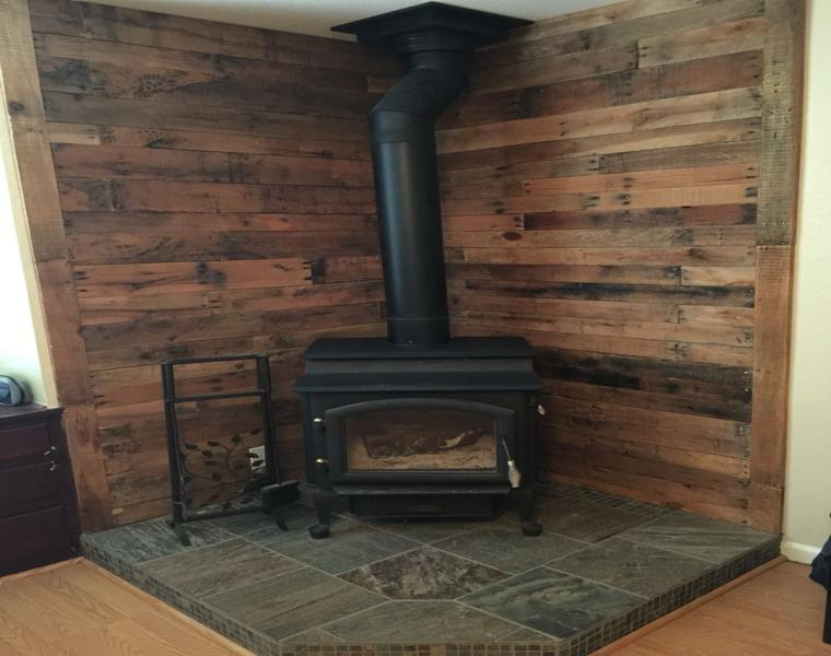 rustic corner wood walls