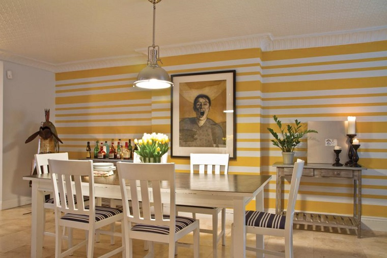 decorate with pictures dining interesting picture yellow wall ideas
