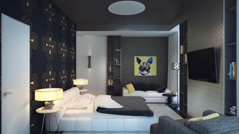 modern style picture dog bedroom