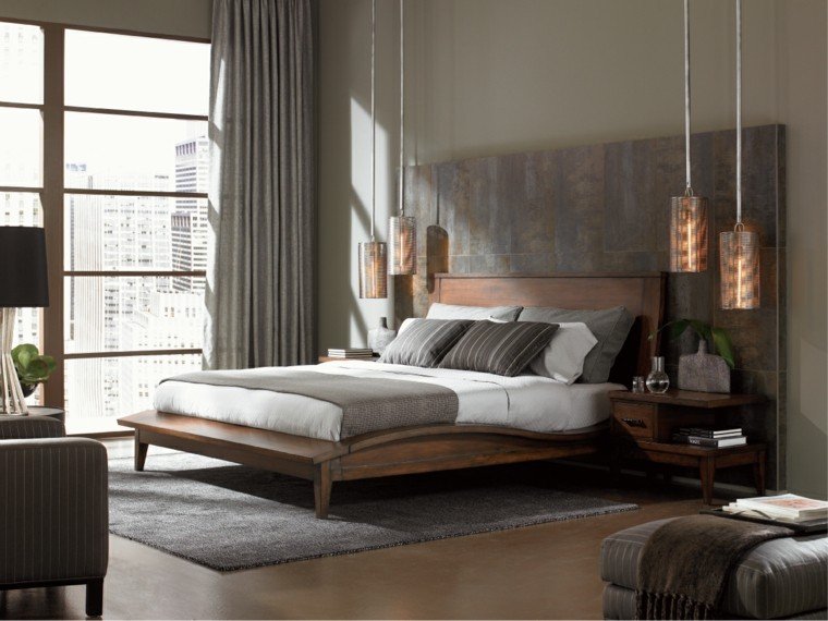 bedroom modern gray wood style