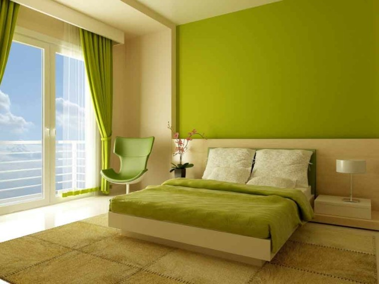 Modern style bedroom pistachio green
