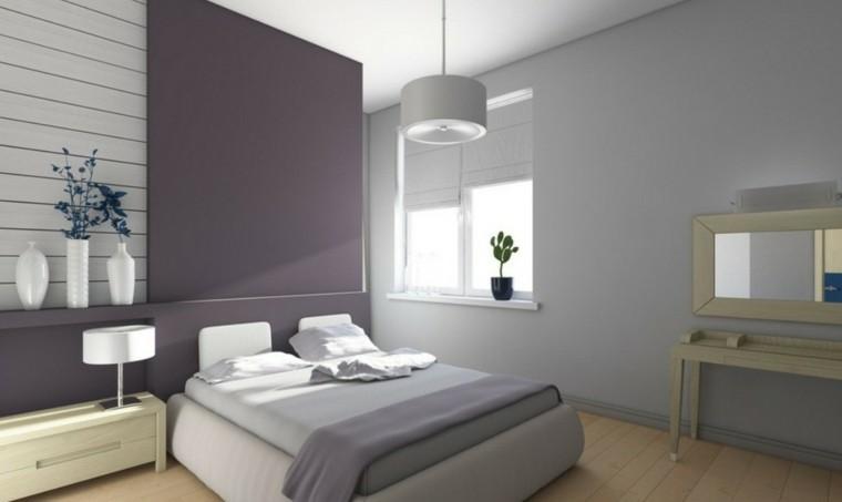 modern walls violet gray