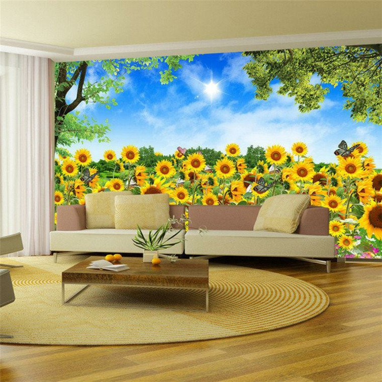 wallpaper with sunflowers
