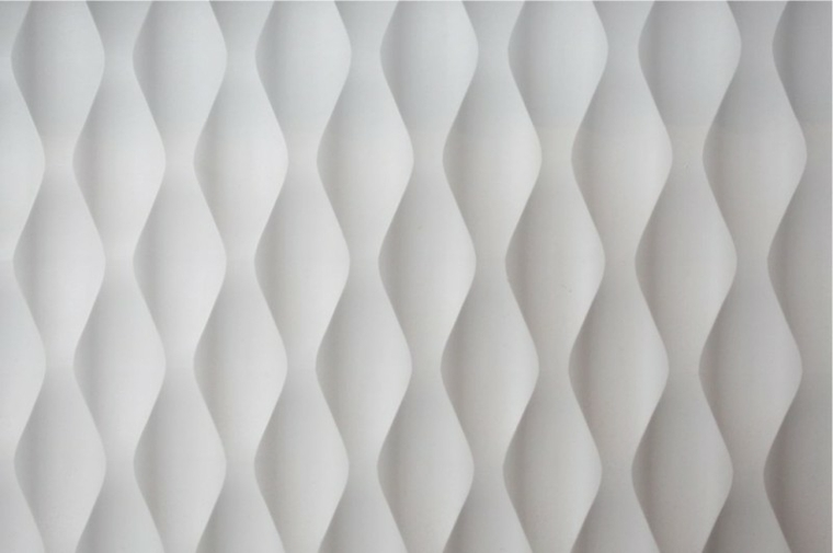Super modern white wall reliefs