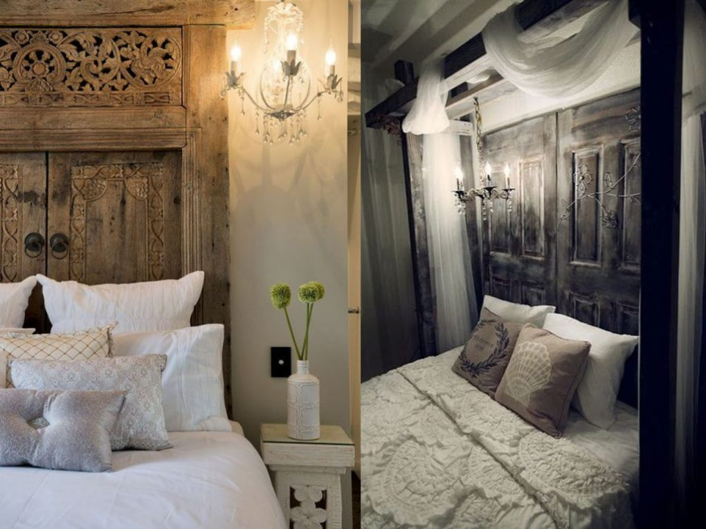 headboards with wooden doors