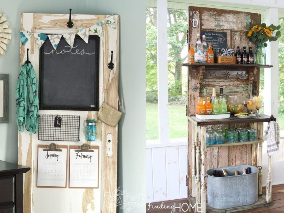 make a blackboard with wooden doors