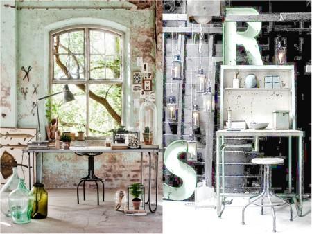Industrial vintage decoration: metals