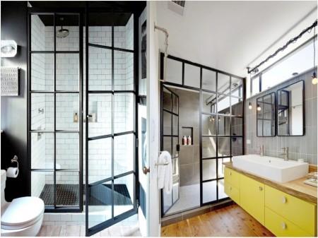Industrial vintage decoration: windows and iron doors