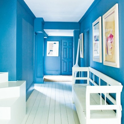 entrance hallway intense blue