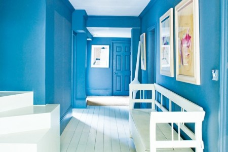 entrance hallway intense blue