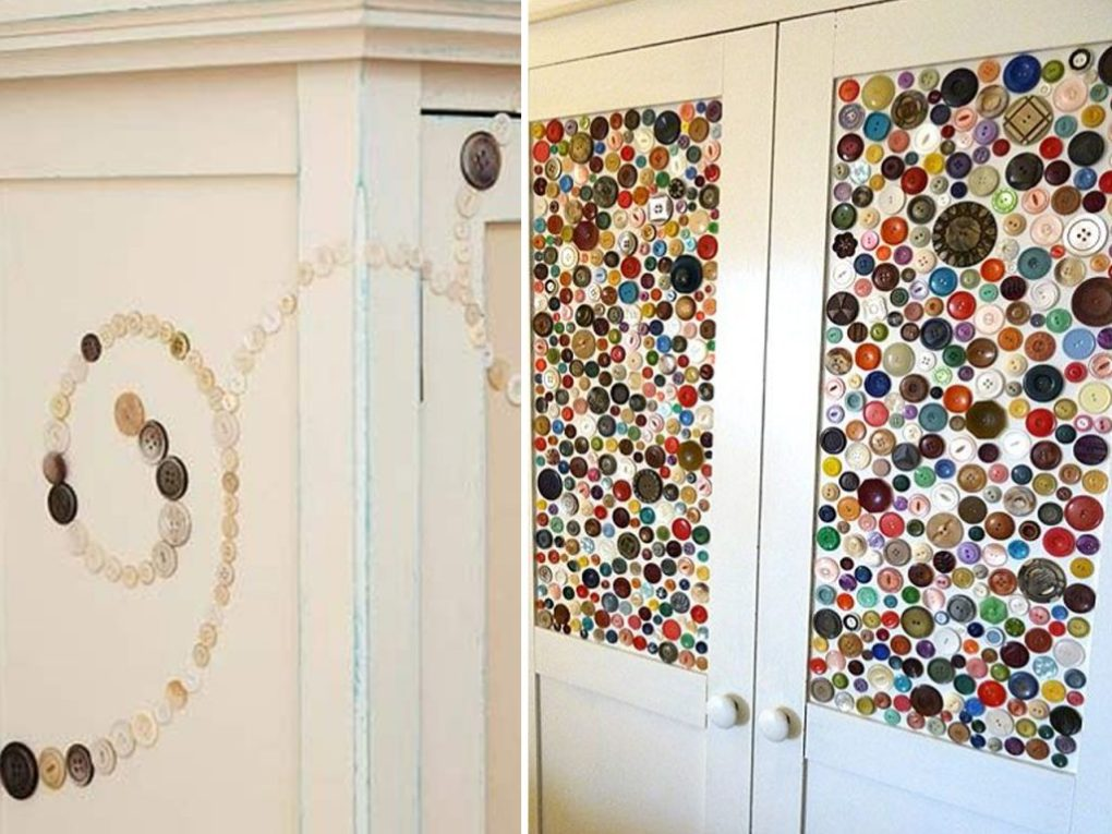 decorate doors with buttons