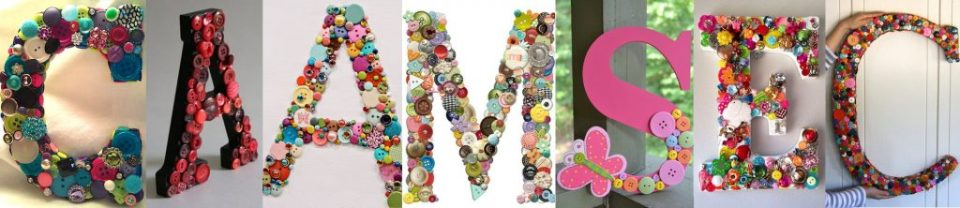 make letters with buttons