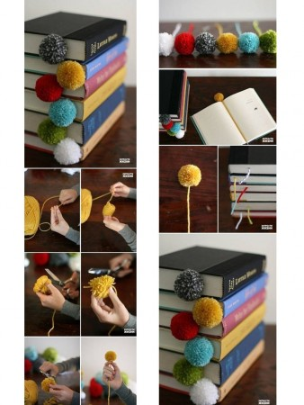 book point with pompoms