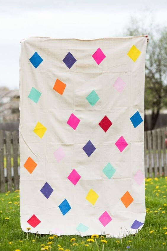 Blanket decorated for picnics