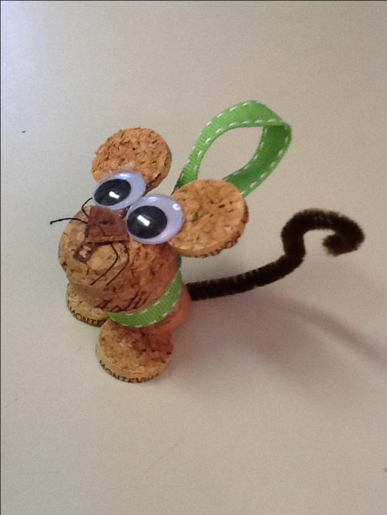 Simple cork decorations