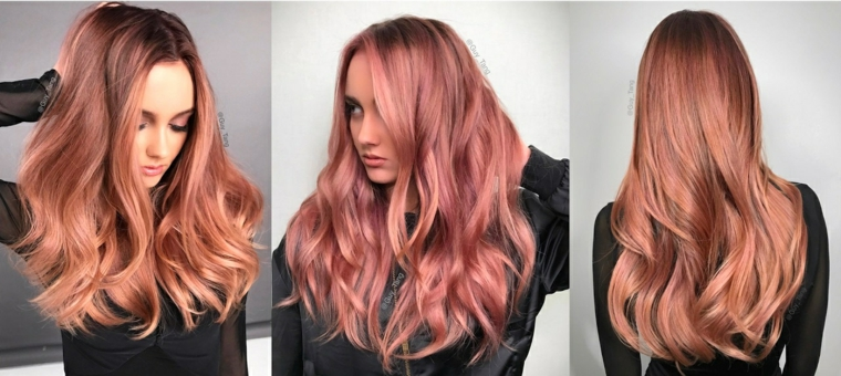 colors-of-hair-pink-gold-ideas