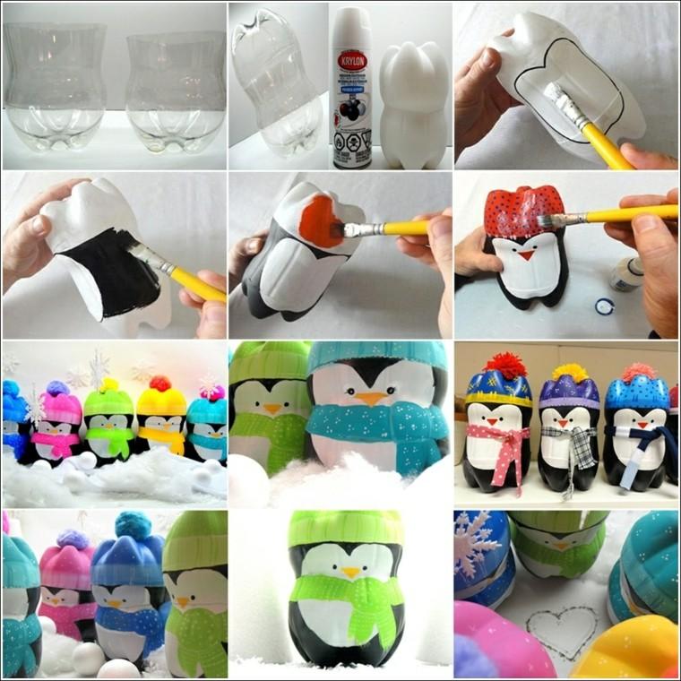 original penguins plastic bottles cut out