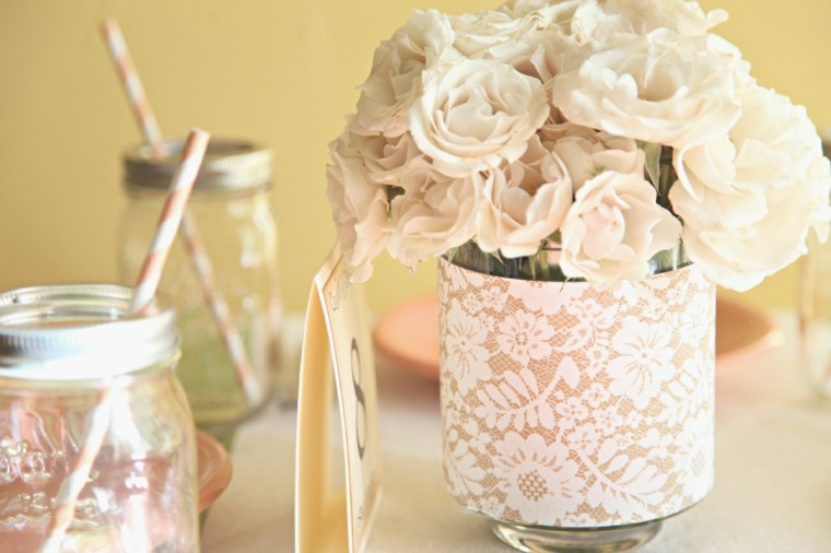 decorate glass lace fabric boats