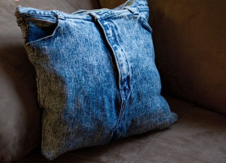 old cowboy made cushion cover