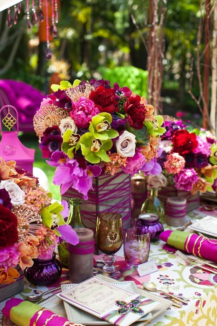 centerpieces table precious weddings table colors ideas