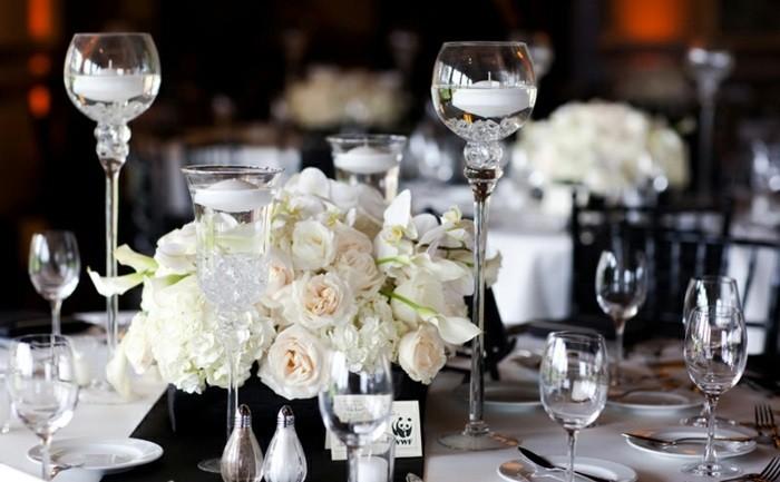 center table white black wedding ideas